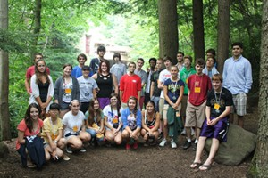 students at architecture summer camp